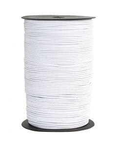 Cordon élastique, ép. 2 mm, blanc, 250 m/ 1 rouleau