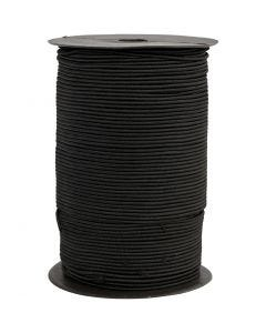 Cordon élastique, ép. 2 mm, noir, 250 m/ 1 rouleau