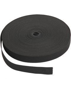 Ruban élastique, L: 20 mm, noir, 25 m/ 1 rouleau