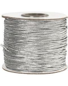 Fil élastique, ép. 1 mm, argent, 100 m/ 1 rouleau