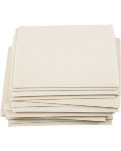 Chiffon éponge, dim. 17x19,5 cm, blanc cassé, 20 pièce/ 1 Pq.