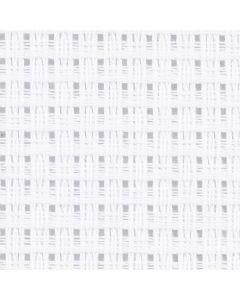 Toile point de croix Aida, dim. 50x50 cm, 24 pts/10 cm, blanc, 1 pièce