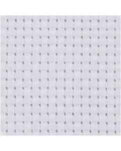 Toile point de croix Aida, dim. 50x50 cm, 35 pts/10 cm, blanc, 1 pièce
