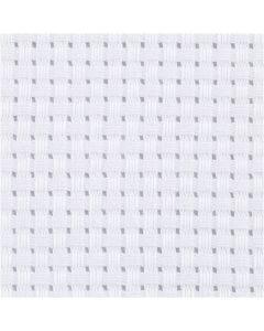 Toile points de croix Aida, dim. 50x50 cm, 35 pts/10 cm, blanc, 1 pièce