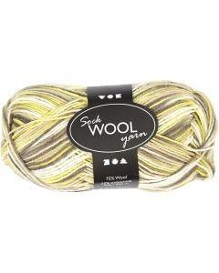 Pelote de laine pour chaussettes, L: 200 m, vert nacre (32240), 50 gr/ 1 boule