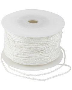 Corde pour macramé, ép. 2 mm, blanc, 50 m/ 1 rouleau