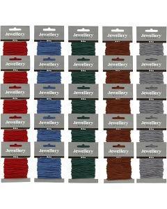 Corde pour macramé, ép. 2 mm, couleurs assorties, 5x5 Pq./ 1 Pq.