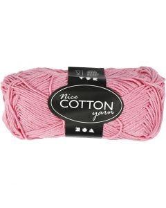 Pelote de laine de coton , dim. 6S/4, L: 165 m, rouge clair, 50 gr/ 1 boule