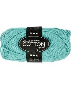 Pelote de fil de coton, L: 80-85 m, dim. maxi , vert, 50 gr/ 1 boule
