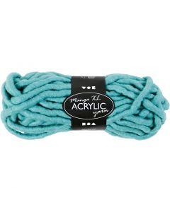 Pelote de laine acrylique épaisse, L: 17 m, dim. manga , turquoise, 200 gr/ 1 boule
