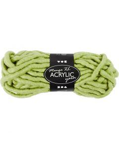 Pelote de laine acrylique épaisse, L: 17 m, dim. manga , vert citron, 200 gr/ 1 boule