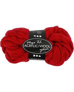 Pelote de fil acrylique/laine épais, L: 15 m, dim. mega , rouge foncé, 300 gr/ 1 boule