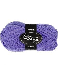 Pelote de laine acrylique Fantasia, L: 80 m, violet, 50 gr/ 1 boule