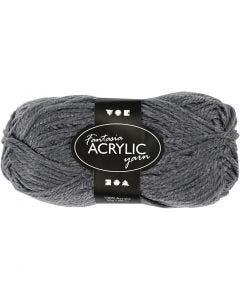 Pelote de laine acrylique Fantasia, L: 80 m, gris, 50 gr/ 1 boule