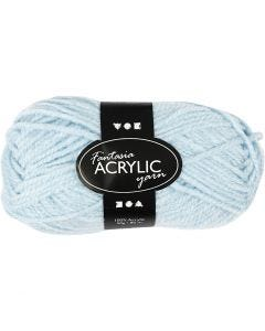 Pelote de laine acrylique Fantasia, L: 80 m, bleu clair, 50 gr/ 1 boule