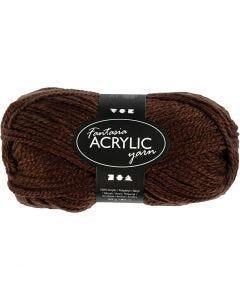 Pelote de laine acrylique Fantasia, L: 80 m, brun, 50 gr/ 1 boule