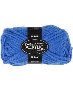 Pelote de laine acrylique Fantasia, L: 35 m, dim. maxi , bleu, 50 gr/ 1 boule