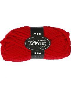Pelote de laine acrylique Fantasia, L: 35 m, dim. maxi , rouge, 50 gr/ 1 boule