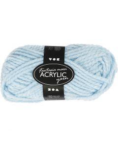 Pelote de laine acrylique Fantasia, L: 35 m, dim. maxi , bleu clair, 50 gr/ 1 boule