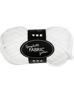 Pelote de fil spaghetti, L: 35 m, blanc, 100 gr/ 1 boule