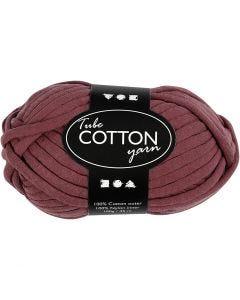 Pelote de fil de coton tubulaire, L: 45 m, violet, 100 gr/ 1 boule