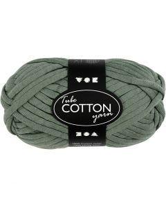 Pelote de fil de coton tubulaire, L: 45 m, vert foncé, 100 gr/ 1 boule
