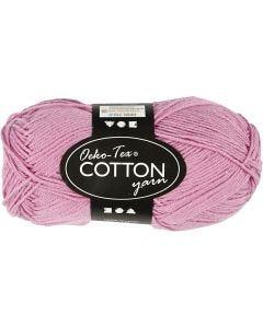 Pelote de fil de coton, dim. 8/4, L: 170 m, rouge clair, 50 gr/ 1 boule