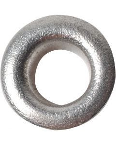Oeillets, H: 3 mm, d: 8 mm, diamètre intérieur 4,8 mm, argent, 50 pièce/ 1 Pq.