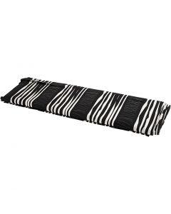 Tissu, L: 145 cm, 140 gr, noir, 10 m/ 1 rouleau