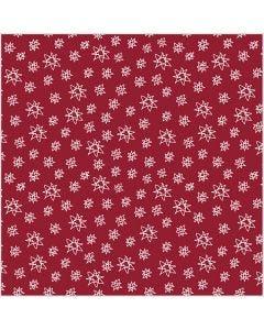 Tissu, L: 145 cm, 140 gr, rouge, 1 par m