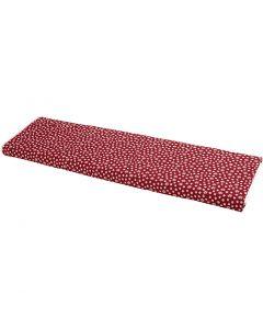 Tissu, L: 145 cm, 140 gr, rouge, 10 m/ 1 rouleau