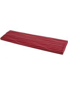 Tissu, L: 145 cm, 140 gr, rouge/blanc, 10 m/ 1 rouleau