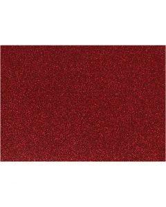 Film à repasser, 148x210 mm, paillettes, rouge, 1 flles