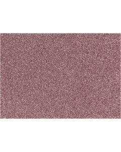 Film à repasser, 148x210 mm, paillettes, rouge clair, 1 flles