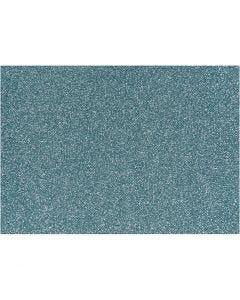 Film à repasser, 148x210 mm, paillettes, bleu clair, 1 flles