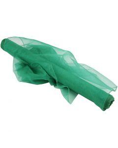 Tissu d'organza, L: 50 cm, vert, 10 m/ 1 rouleau