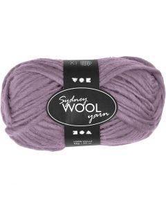 pelote de laine Sydney, L: 50 m, violet, 50 gr/ 1 boule