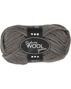 pelote de laine Sydney, L: 50 m, gris, 50 gr/ 1 boule