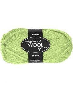 Pelote de laine Melbourne, L: 92 m, vert néon, 50 gr/ 1 boule