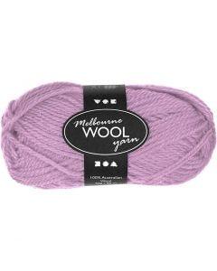 Pelote de laine Melbourne, L: 92 m, rose, 50 gr/ 1 boule