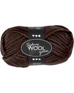 pelote de laine Sydney, L: 50 m, brun, 50 gr/ 1 boule