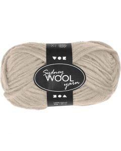 pelote de laine Sydney, L: 50 m, beige, 50 gr/ 1 boule