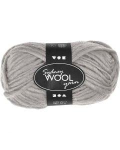 pelote de laine Sydney, L: 50 m, gris clair, 50 gr/ 1 boule