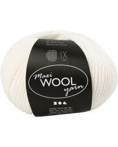 Pelotes de laine, L: 125 m, blanc cassé, 100 gr/ 1 boule