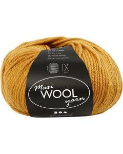 Pelotes de laine, L: 125 m, jaune foncé, 100 gr/ 1 boule