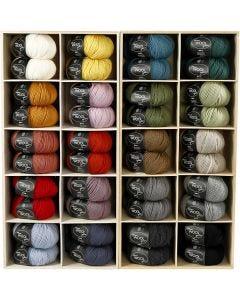 Pelotes de laine, L: 125 m, couleurs assorties, 20x10 boule/ 1 Pq.