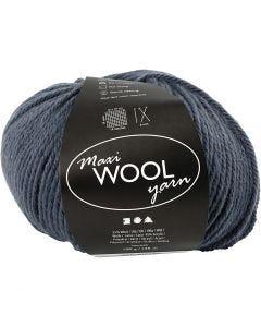 Pelotes de laine, L: 125 m, bleu, 100 gr/ 1 boule
