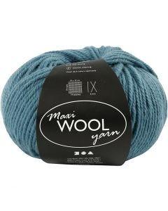Pelotes de laine, L: 125 m, pétrole, 100 gr/ 1 boule