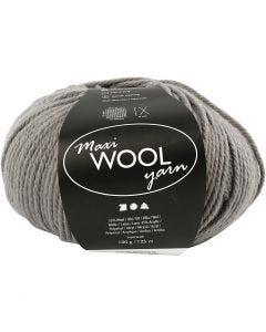 Pelotes de laine, L: 125 m, gris, 100 gr/ 1 boule