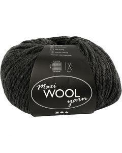 Pelotes de laine, L: 125 m, mix gris foncé, 100 gr/ 1 boule